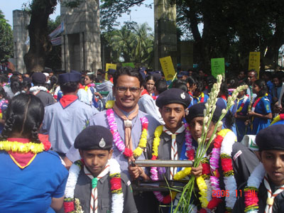 Rover Peace Baton in Bangladesh